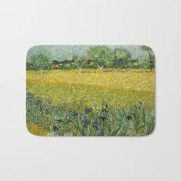 Field with Flowers near Arles by Vincent van Gogh Bath Mat