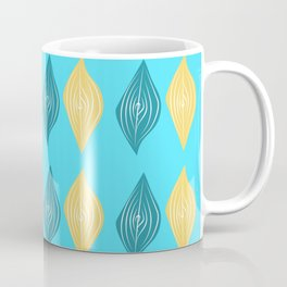 rows of blue and golden leaves Coffee Mug