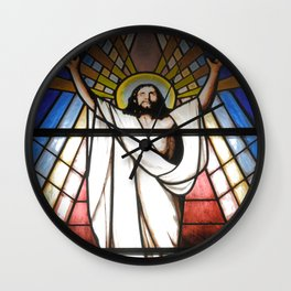 Stained glass window Wall Clock