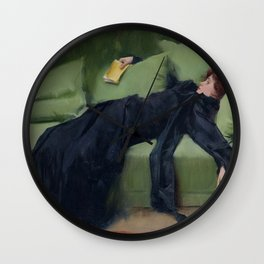 A DECADENT GIRL - RAMON CASAS Wall Clock