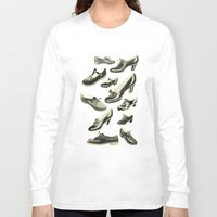 shoe Long Sleeve T-shirts featuring Shoe Fetish by Cassia Beck