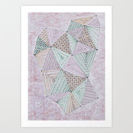 Triangle Play Art Print