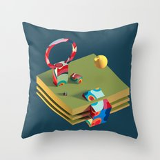Much Ado in Candyland Throw Pillow