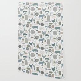 Modern Farmhouse // Gather Round & Give Thanks Wallpaper