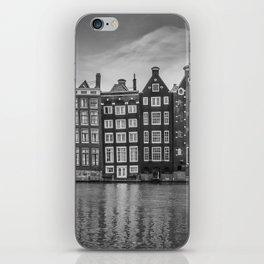 AMSTERDAM Damrak and dancing houses iPhone Skin
