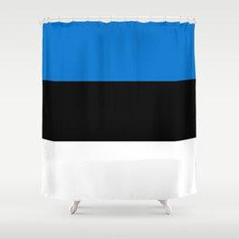 Flag: Estonia Shower Curtain