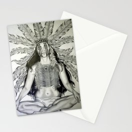 Indian War chief  Stationery Cards