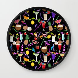 Cocktail party pattern Wall Clock
