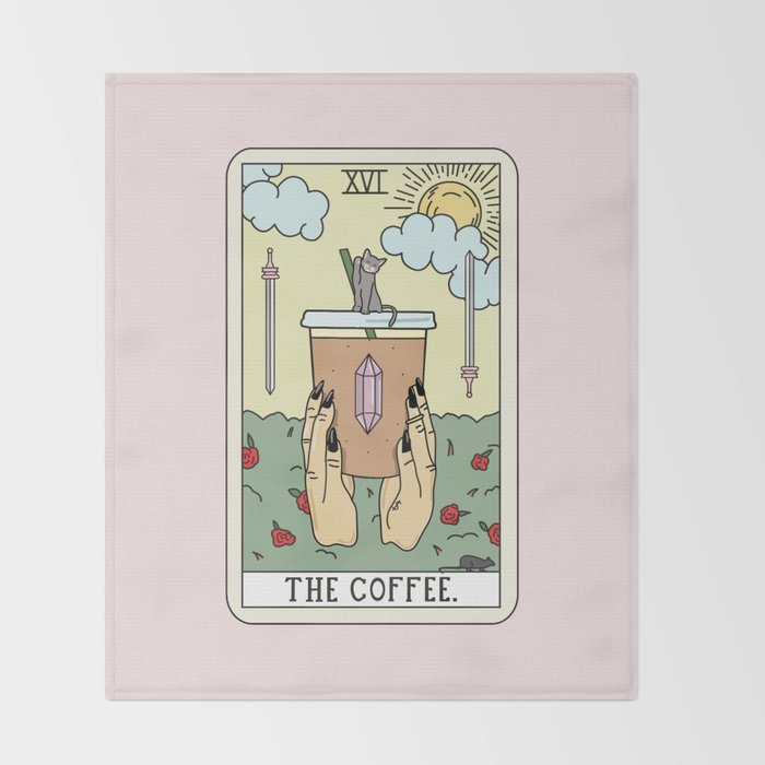 COFFEE READING Throw Blanket