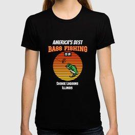 BEST BASS FISHING Skokie Lagoons T-shirt