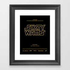 Sixty Watts C  - (far, far away) Framed Art Print