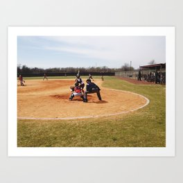 Softball Game (Clarksdale, Mississippi) Art Print