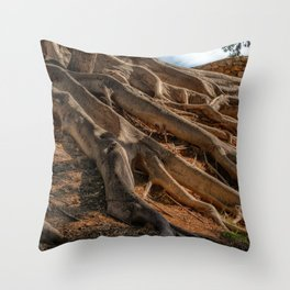 Big Roots Forest Throw Pillow