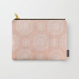 Peach Blush Romantic Flower Mandala Pattern #3 #decor #art #society6 Carry-All Pouch