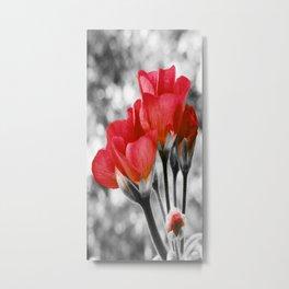 Flowers Pop Of Color Living Coral Orange Metal Print