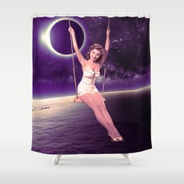 Swing the moon Shower Curtain