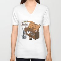 middle earth V-neck T-shirts featuring Middle Earth Travels by souldroid