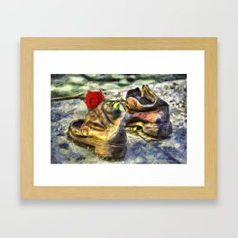 Shoes On The Danube Van Gogh Framed Art Print
