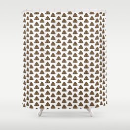 Poo Pattern Shower Curtain