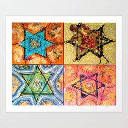 Star of David or David Shield Art Print