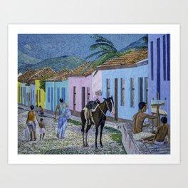 Trinidad Lifestyle Oil On Canvas Art Print