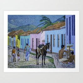 Trinidad Lifestyle Oil On Canvas Art Print