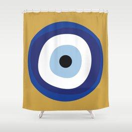 Good Luck Blue Eye - Charm Shower Curtain