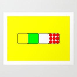 The Bicycle Race Jerseys 2 Yellow Art Print