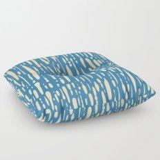 Ice Melt Stripes - Orange Sherbet on Saltwater Taffy Teal Floor Pillow