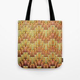 Angular Wave - Copper and Brass - Classic Vintage Art Deco Pattern Tote Bag