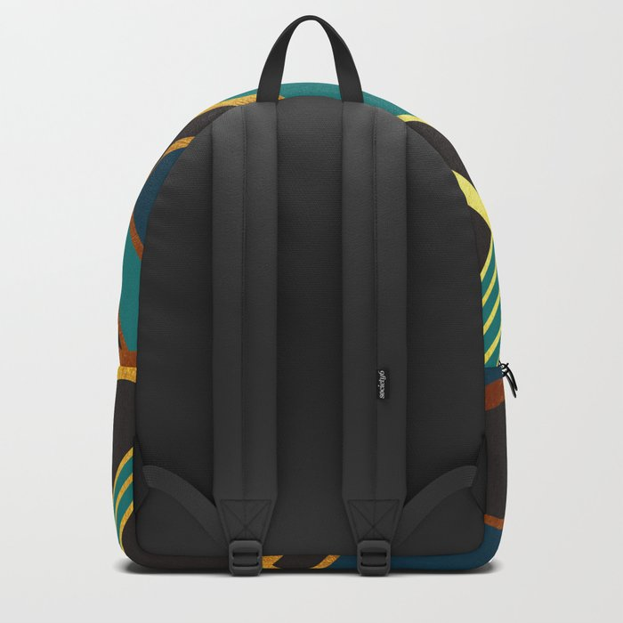 Art Deco New Tomorrow In Turquoise Backpack