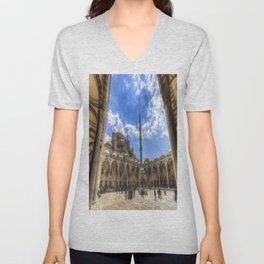 The Blue Mosque Istanbul Unisex V-Neck