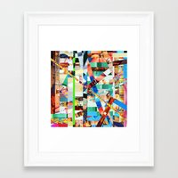 bianca green Framed Art Prints featuring Bianca (stripes 22) by Wayne Edson Bryan