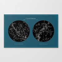 constellations Canvas Prints featuring Constellations  by Terry Fan