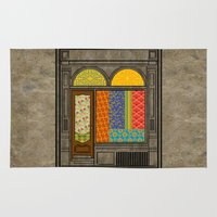 mandie manzano Area & Throw Rugs featuring Shop windows by Megs stuff...