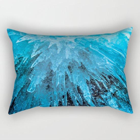 Ice Stalactites Rectangular Pillow