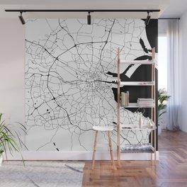 Dublin Minimal Map Wall Mural