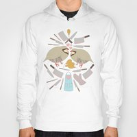 cooking Hoodies featuring Cooking Birds by April Yim