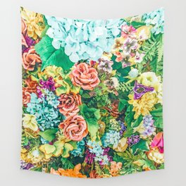 Vintage Garden #digital #nature Wall Tapestry