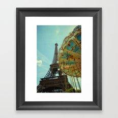 Eiffel Tower & Carrousel  Framed Art Print