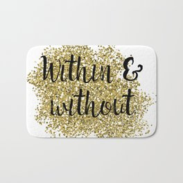 Within and without - golden jazz Bath Mat