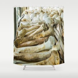 Bones & Skulls - The Killing Fields, PhnomPenh, Cambodia Shower Curtain