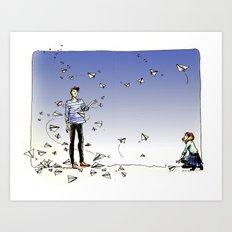 Paper Dart Art Print