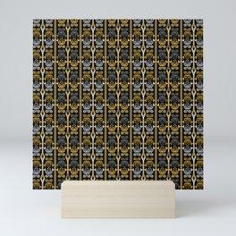 Yellow and black , ornament Mini Art Print