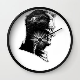 The Boy is Sire to the Man Wall Clock