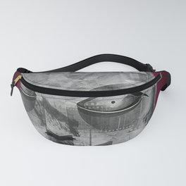 My Android Beauty, Robot, Art Deco, Modern, Fanny Pack