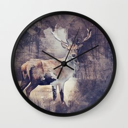 King of the Woods Wall Clock