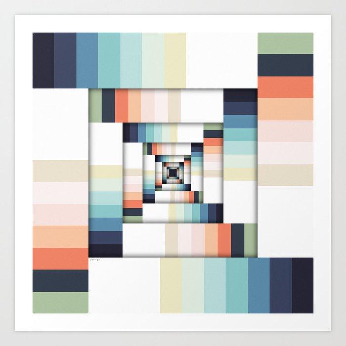 Boxes of Colors Art Print