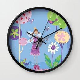 Fairy in the Garden Wall Clock