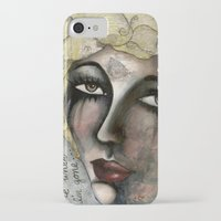 blondie iPhone & iPod Cases featuring Blondie by The Waking Artist